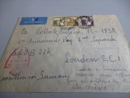 ENVELOPPE EN PROVENANCE DE PALESTINE 1944 AVEC CENSURE ANGLAISE POUR UN MILITAIRE DES FORCES TCHEQUE A LONDRES - Documents