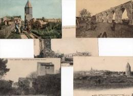 45Hy    83 Frejus Lanterne Et Ruines Romaines Lot De 5 Cpa - Frejus