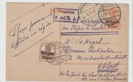 BB089/  BELGIEN - Ganzsache Mit Zusatzfrankatur 1917 Ex Brüssel - German Occupation
