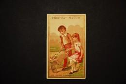 Chromos Et Images, Chromos, Chocolat MASSON Une Poupée Bien Exposée Enfants A La Brouette - Non Classés