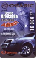 GABON PREPAID LIBERTIS OGARIC ABESSOLO SSANGYONG 10000F UT RARE VALID 31.12.2004 - Gabon