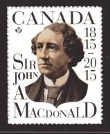 CANADA 2015, #2804,  Sir John A. Macdonald - Permanent™ Domestic Stamps - - Carnets