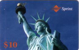 USA PREPAID SPRINT STATUE LIBERTE LIBERTY 10$ UT VALID 11.93