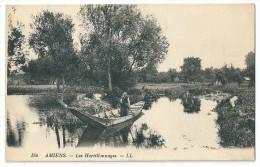 Cpa: 80 AMIENS Les Hortillonnages (Femme En Barque) LL 184 - Amiens
