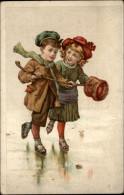 SPORTS - PATINAGE - Patins à Glace - Patins - Fantaisies Enfants - CHROMO - Potiron à Nantes - Chromos