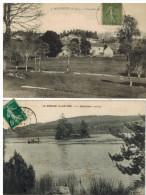 Gentioux: 2 Cartes, Vue Générale Etle Lac, Avec Barque - France