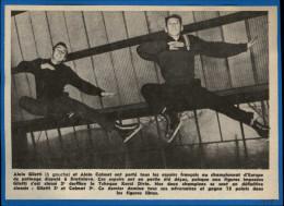 SPORTS - PATINAGE - Patins à Glace - Patins - Photo Tirée D´un Journal De 1958 Et Collé Sur Feuillet - GILETTI Et CALMAT - Vieux Papiers