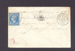 SEINE MARITIME 76 MONTIVILLIERS Env Tad Type 15 Du 16/10/1866 GC 2479 Sur N° 22 TTB Ind4 - Marcophilie (Lettres)