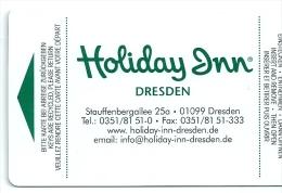 Llave Card Karte Clef Hotelkarte Keycard  HOTEL HOLIDAY INN DRESDEN - RADEBERGER BEER PUBLICITY IN REVERSE - Hotel Labels