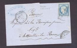 SEINE MARITIME 76 MONTIVILLIERS LAC Tad Type 16 Du 23/01/1873 GC 2479 Sur N° 60 TTB Ind4 - Marcophilie (Lettres)