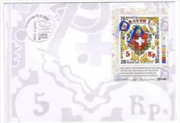 Schweiz , FDC , Block , 2000 , Mi. Nr. 30 ( 1722 - 1725 ) - FDC