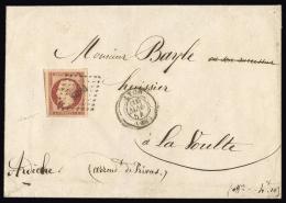 FRANCE N° 18 1f Carmin Sur Enveloppe. Oblitération PC. 4 Grandes Marges Dont 3 Voisins. SUPERBE - 1853-1860 Napoléon III