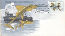 FDCard – Cousteau Society – São Tomé E Principe – Flying Fish - Le Poisson Volant - Peces