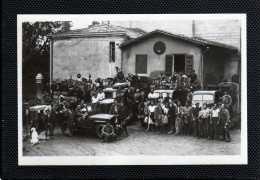 33 GENISSAC DEPART POUR LES VENDANGES ANIMATION SUPERBE CARTE PHOTO - France