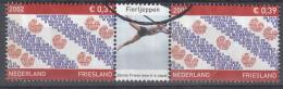 Nederland - Provincievlaggen En Volksliederen - Friesland - Gebruikt/gebraucht/used - NVPH 2065 Tab Midden Fierljeppen - Periode 1980-... (Beatrix)