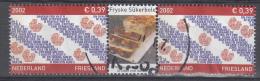 Nederland - Provincievlaggen En Volksliederen - Friesland - Gebruikt/gebraucht/used - NVPH 2065 Tab Midden Sûkerbole - Periode 1980-... (Beatrix)
