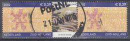 Nederland - Provincievlaggen En Volksliederen - Zuid-Holland - Gebruikt/gebraucht/used - NVPH 2071 Tab Midden Haring - Periode 1980-... (Beatrix)