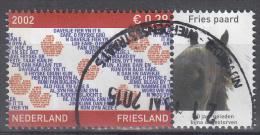 Nederland - Provincievlaggen En Volksliederen - Friesland - Gebruikt/gebraucht/used - NVPH 2065 Tab Fries Paard - Periode 1980-... (Beatrix)