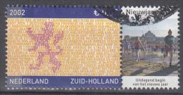 Nederland - Provincievlaggen En Volksliederen - Zuid-Holland - Gebruikt/gebraucht/used - NVPH 2071 Tab Nieuwjaarsduik - Periode 1980-... (Beatrix)