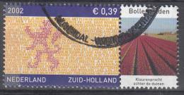 Nederland - Provincievlaggen En Volksliederen - Zuid-Holland - Gebruikt/gebraucht/used - NVPH 2071 Tab Bollenvelden - Periode 1980-... (Beatrix)