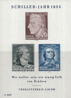 Oost-Duitsland - 150. Todestag Von Friedrich Schiller – Postfris/MNH – Michel Block 12 - Blokken