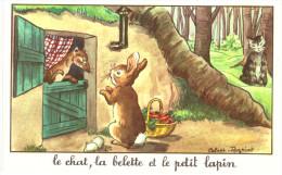 FABLE ... JEAN DE LA FONTAINE ... ILLUSTRE PAR CALVET REGNIAT ... LE CHAT LA BELETTE ET LE PETIT LAPIN - Schrijvers