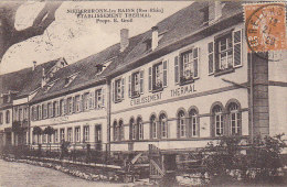 Niederbronn Les Bains 67 -  Etb. Thermal Propriétaire E. Groll - RARE Cachet 1929 Reischoffen - Editeur Siegler - Niederbronn Les Bains