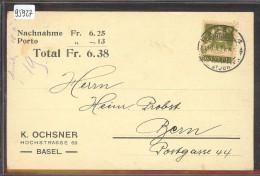 BASEL - K. OCHSNER - NACHNAHME - TB - BS Bâle-Ville