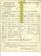 33 - Gironde - BORDEAUX - Facture LAGARDE - Vins – 190? - REF 172 - Vieux Papiers
