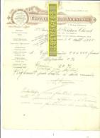 76 - Seine-maritime - ROUEN - Facture VERSTAEN-CHEVET - Coffres-forts – 1925 - REF 172 - Vieux Papiers