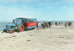 GRENEN (Danemark) Cpsm Tracteur Sur La Plage Beau Plan - Tracteurs