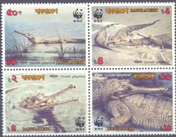 1974. Bangladesh, WWF, Crocodiles, 4v, Mint/** - Bangladesh