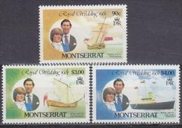 Montserrat 1981 Royal Wedding 3v ** Mnh (19269) - Montserrat