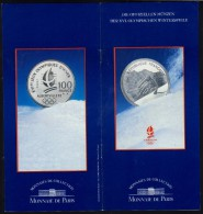 FRANCE PROSPECTUS WINTER OLYMPIC GAMES ALBERTVILLE 1992 - GOLDEN and SILVER COINS