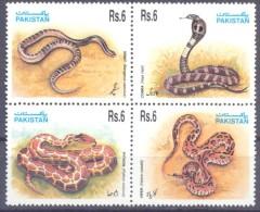 1995. Pakistan, Snakes, 4v, Mint/** - Pakistan