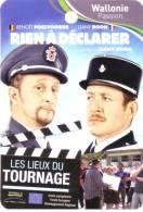 Dany Boon - Benoît Poelvoorde - Carte Publicitaire Sur Les Lieux Du Tournage Du Film Rien à Déclarer - Toerisme