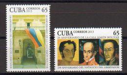 TIMBRES CUBA 2013 CASA MAISON DE SIMON BOLIVAR - Historia