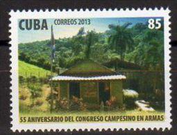 TIMBRE CUBA 2013 CONGRESO CAMPESINO EN ARMAS - CONGRÈS PAYSAN EN ARMES - Militares
