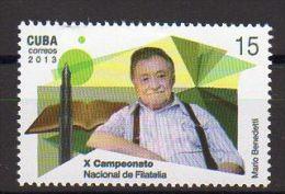 TIMBRE CUBA 2013 MARIO BENEDETTI - Escritores