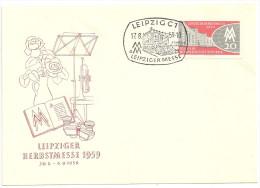 DDR 1959 Michel Nr. 712 FDC Leipziger Herbstmesse 17.8.59 Leipzig Messe, Briefumschlag - DDR
