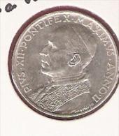 VATICAAN 5 LIRE 1940 SILVER ST.PETER IN THE BOAT KM28 - Vatican