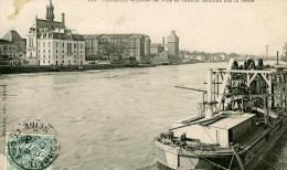 CORBEIL - Hôtel De Ville - Grands Moulins Sur La Seine Avec Péniche - Corbeil Essonnes