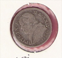 VATICAAN 10 SOLDI 1869 SILVER PIUS X KM1386.1 - Vatican