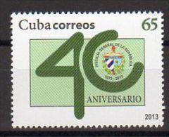 TIMBRE CUBA 2013 FISCALIA GENERAL PUBLIC PROCUREUR GÉNÉRAL - Profesiones