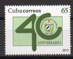 TIMBRE CUBA 2013 FISCALIA GENERAL PUBLIC PROCUREUR GÉNÉRAL - Berufe