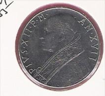 VATICAAN 100 LIRE 1955 AN XVII KM55 - Vatican