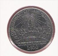 VATICAAN 100 LIRE 1962 SEC.OECOMENIE COUNCIL KM73 - Vatican