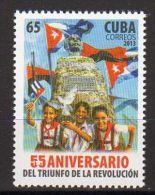 TIMBRES CUBA 2013 TRIUNFO DE LA REVOLUCION -  TRIOMPHE DE LA RÉVOLUTION DRAPEAUX - Sellos