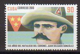 TIMBRE CUBA 2013 CORONEL JUAN DELGADO GONZALEZ - Militares