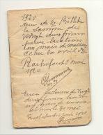 ROCHEFORT - Carnet De Perception Des Loyers - 1920 à 1928 - Timbres Fiscaux - Taxe Fiscale (b161) - Belgio